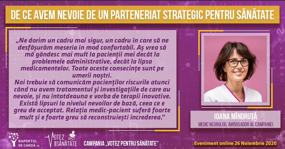 Declarație Dr. Ioana Mândruță