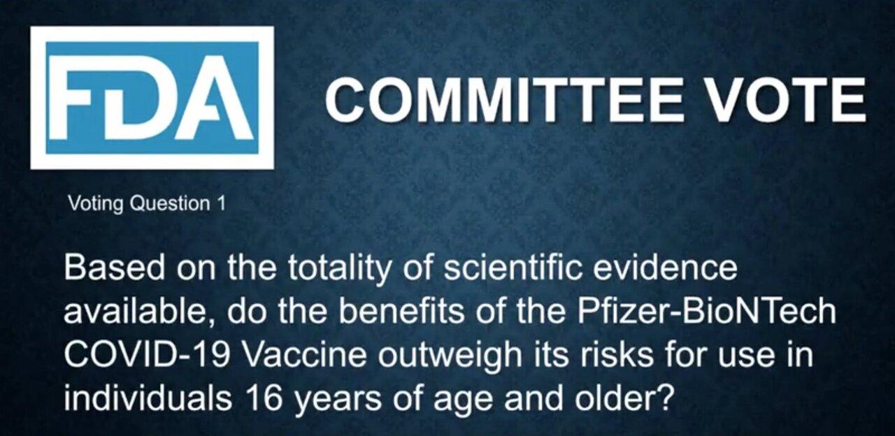 vot comitet consultativ FDA vaccin COVID-19
