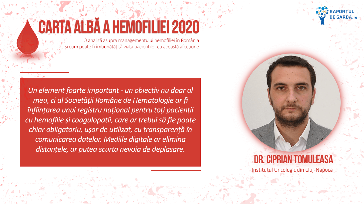 Lansare Carta Albă a Hemofiliei 2020, Ciprian Tomuleasa