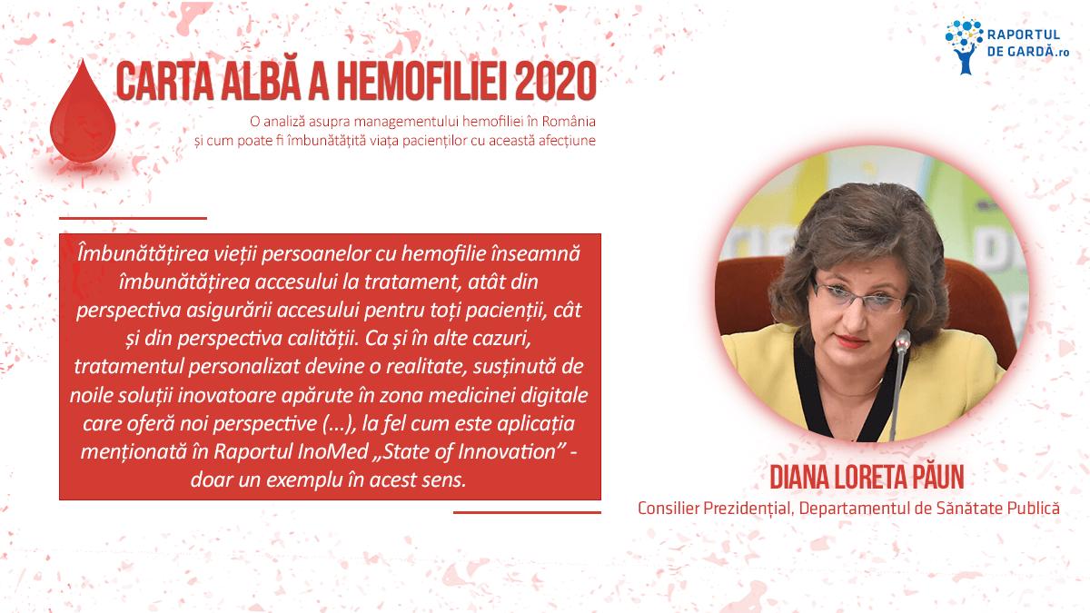Lansare Carta Albă Hemofilie 2020, Diana Păun