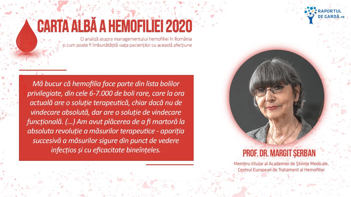 Lansare Carta Albă a Hemofiliei 2020, Margit Serban