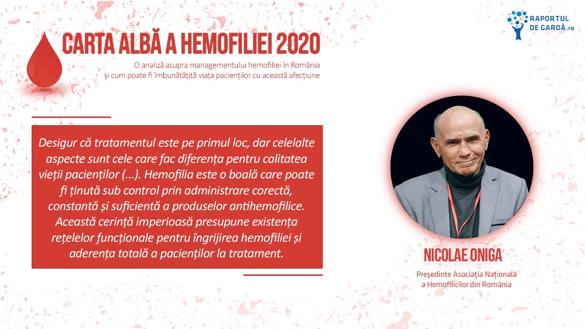 Lansare Carta Albă a Hemofiliei 2020, Nicolae Oniga