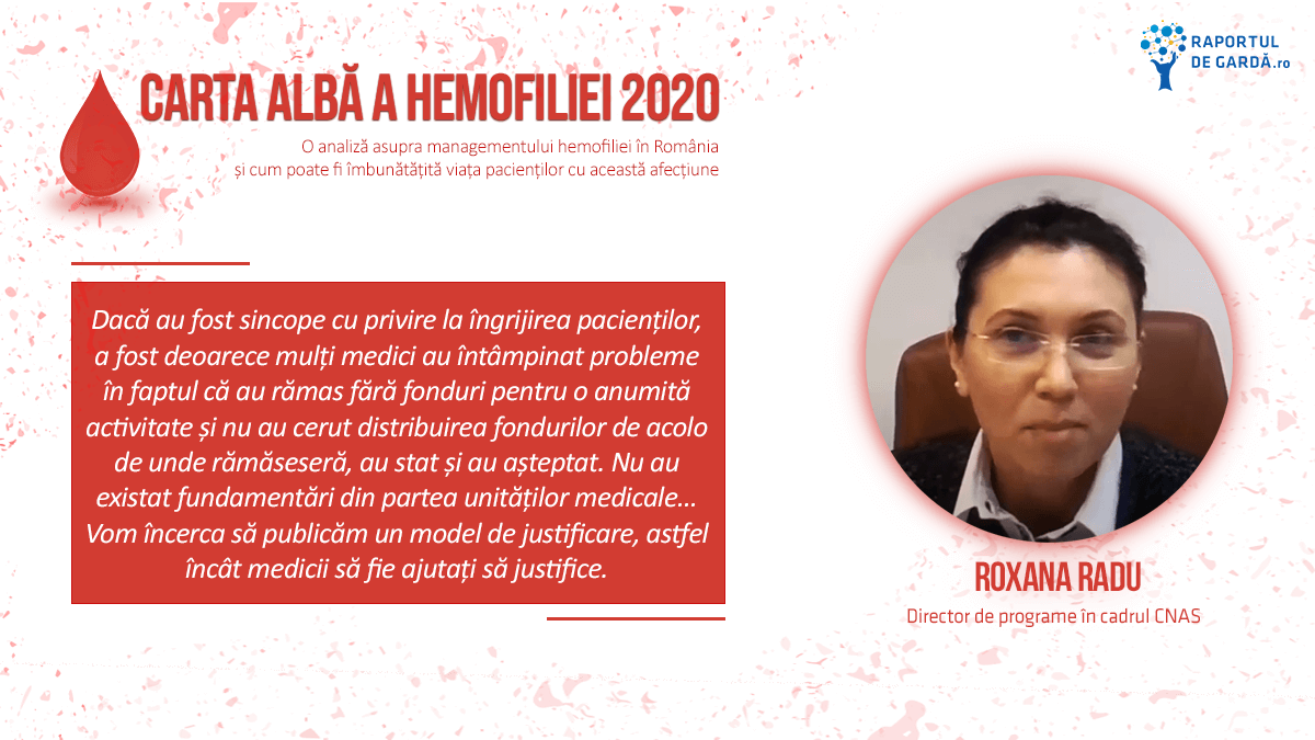 Lansare Carta Albă a Hemofiliei 2020, Roxana Radu