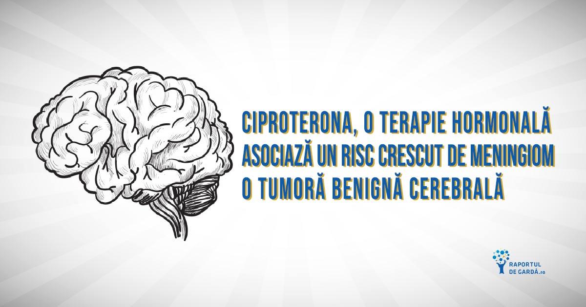 Ciproterona, o medicație hormonală, se corelează cu un risc crescut de a dezvolta meningiom intracranian
