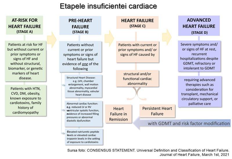 Etape insuficiența cardiacă - Document consens internațional 2021