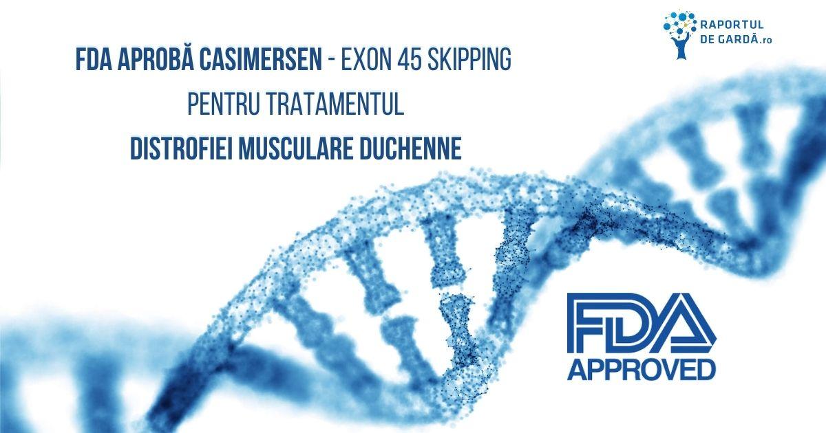 fda aprobare casimersen - exon 45 skipping distrofia musculara Duchenne