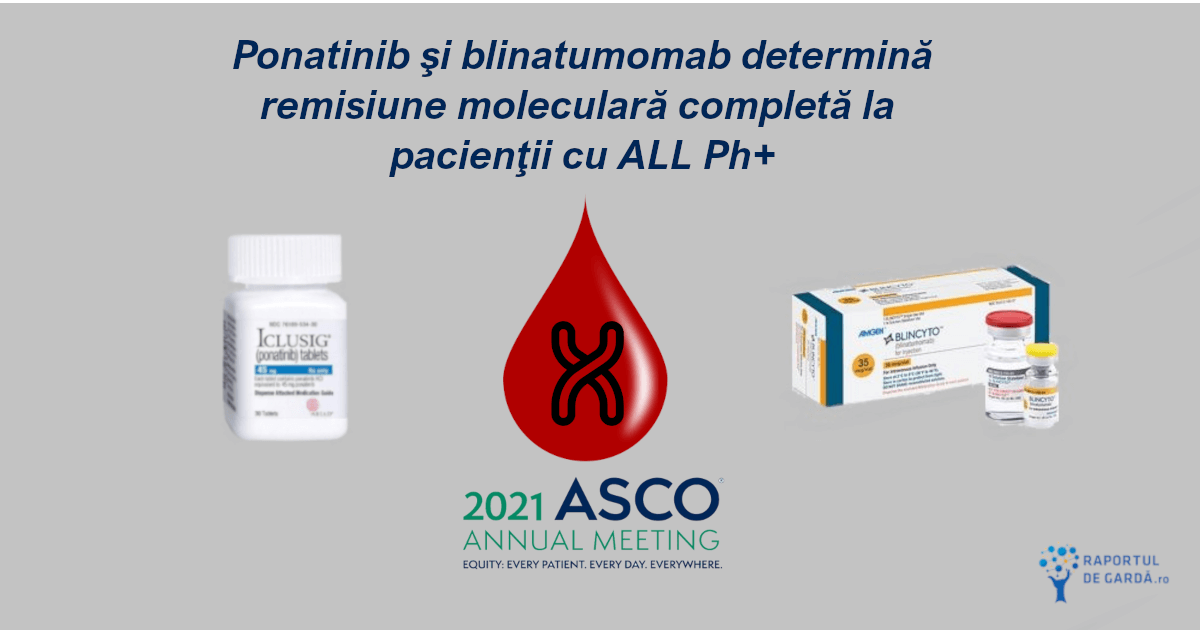 #ASCO2021. Ponatinib şi blinatumomab determină RMC la pacienţii cu ALL Ph+
