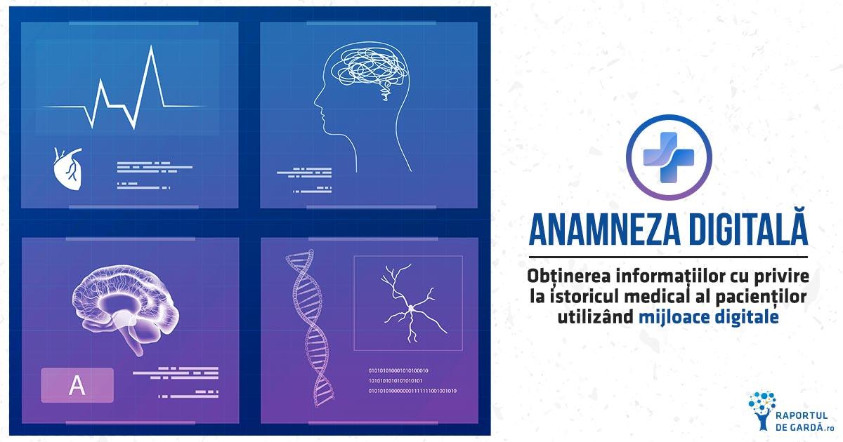 Anamneza digitală, soluție inovativă pentru stocarea istoricului medical personal al pacientului