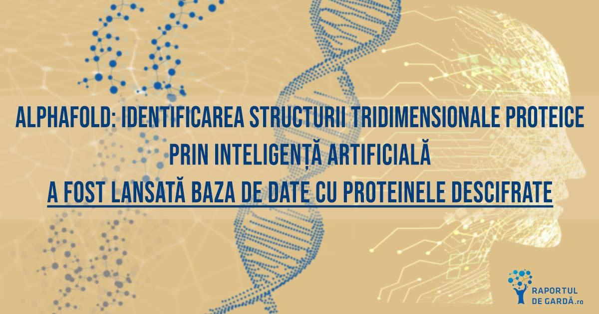 baza date proteine structura descifrata instrument AlphaFold AI deep learning