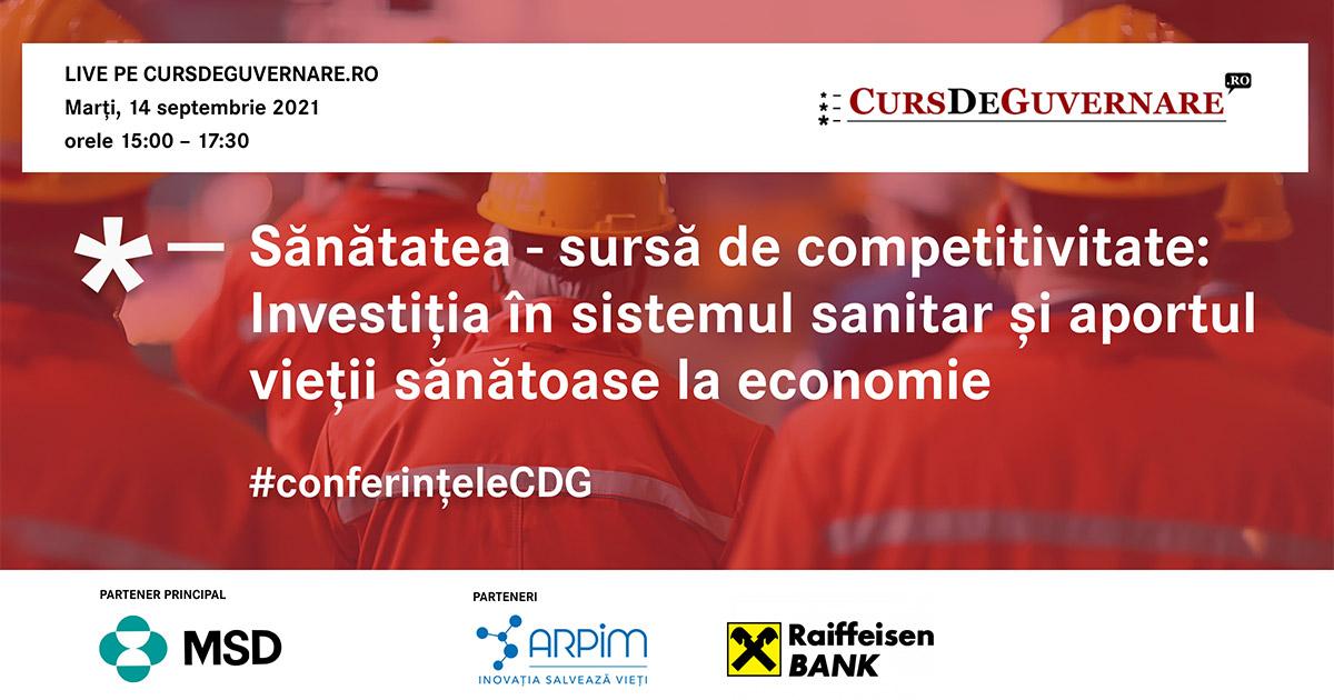 Sănătatea – sursă de competitivitate: Investiția în sistemul sanitar și aportul vieții sănătoase la economie