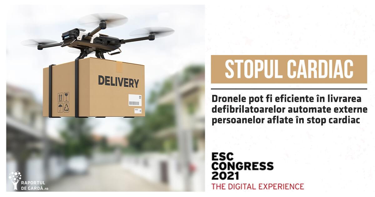 Drone utilizate în livrarea defibrilatoarelor automate externe