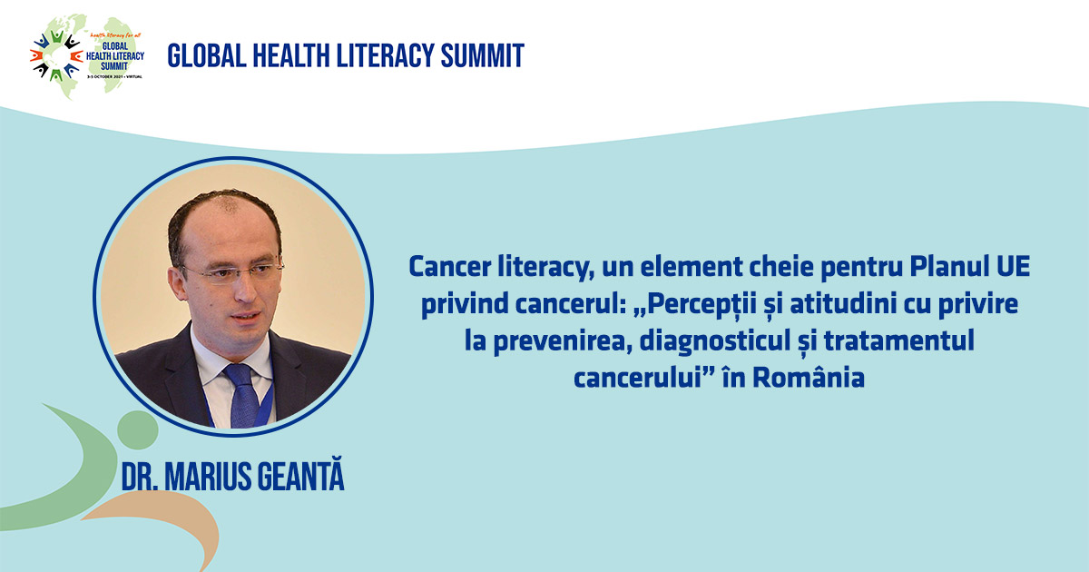 Cancer Literacy - Dr. Marius Geantă